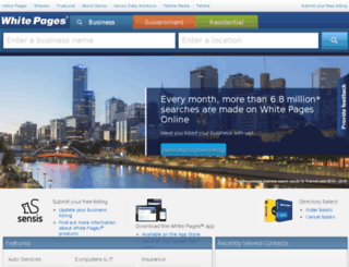 whitepagesonline.com.au screenshot
