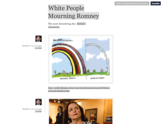 whitepeoplemourningromney.tumblr.com screenshot