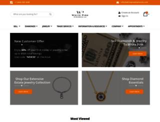 whitepinediamonds.com screenshot