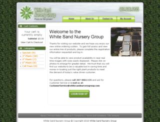 whitesandnurserygroup.com screenshot