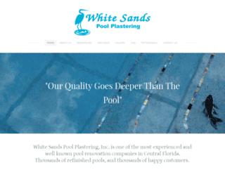 whitesandspoolplastering.com screenshot