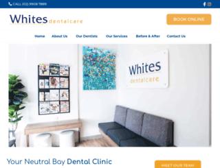 whitesdentalcare.com.au screenshot