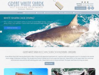 whitesharkaccommodation.co.za screenshot