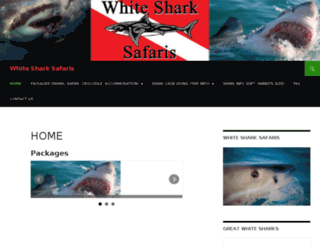 whitesharkadventures.co.za screenshot