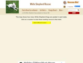 whiteshepherd.rescueme.org screenshot