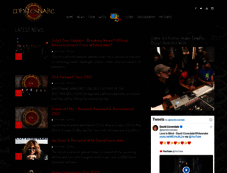 whitesnake.com screenshot