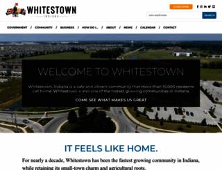 whitestown.in.gov screenshot