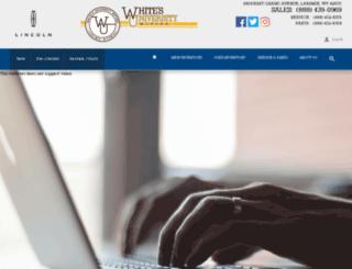 whitesuniversitymotors.com screenshot
