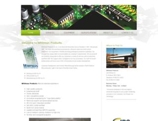 whitmanproducts.com screenshot