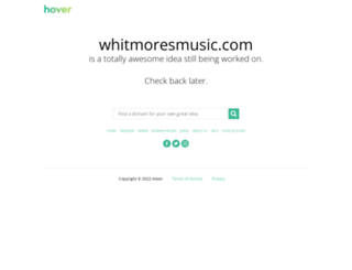 whitmoresmusic.com screenshot