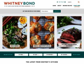 whitneybond.com screenshot