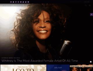whitneyhouston.com screenshot