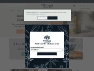 whittard.co.uk screenshot