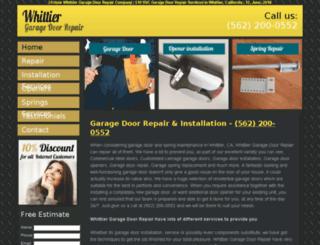 whittiercagaragedoors.com screenshot