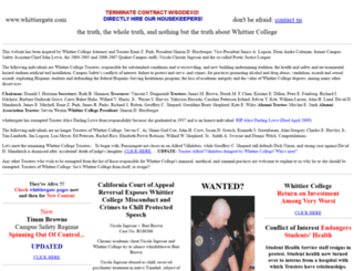 whittiergate.com screenshot