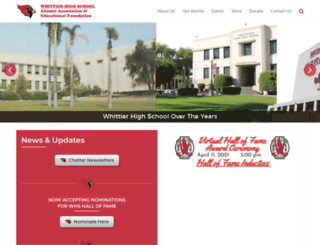 whittierhighalumni.org screenshot