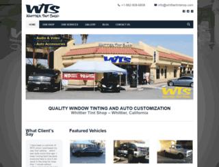 whittiertintshop.com screenshot