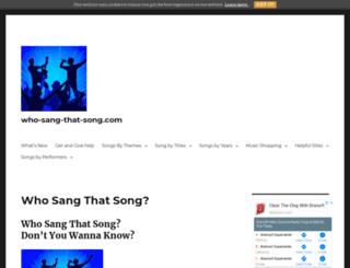 who-sang-that-song.com screenshot