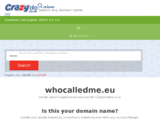 whocalledme.eu screenshot