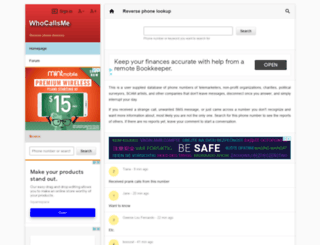 whocallsme.com screenshot
