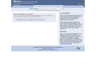 whois.mintac.net screenshot