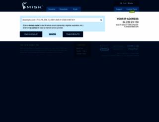 whois.misk.com screenshot