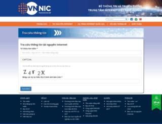 whois.vnnic.vn screenshot