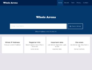 whoisarena.com screenshot