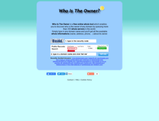 whoistheowner.net screenshot