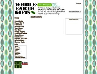 whole-earthgifts.com screenshot