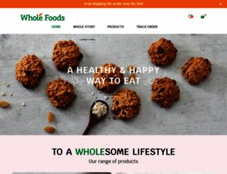 wholefoods.co.in screenshot