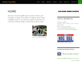 wholehogbbq.net screenshot
