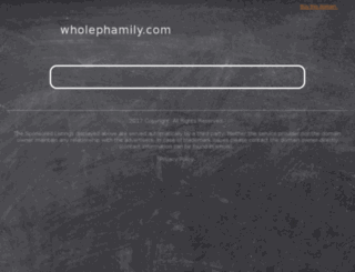 wholephamily.com screenshot