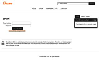 wholesale.crane-usa.com screenshot