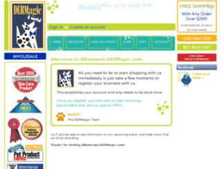 wholesale.dermagic.com screenshot