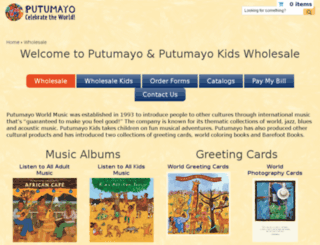 wholesale.putumayo.com screenshot