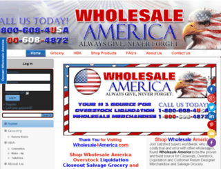 wholesale4america.com screenshot