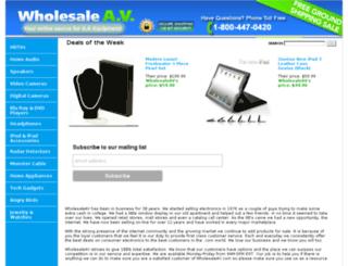 wholesaleav.com screenshot