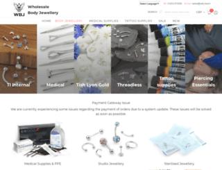 wholesalebodyjewellery.com screenshot