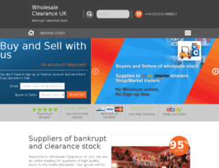 wholesaleclearance.ie screenshot