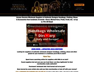 wholesaledesignerhandbags.com screenshot