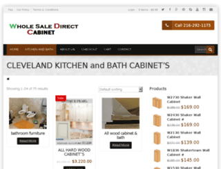 wholesaledirectcabinet.com screenshot