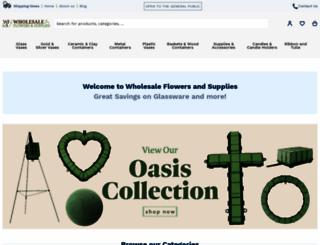 wholesaleflowersandsupplies.com screenshot