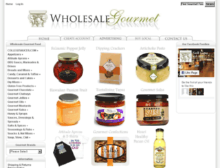 wholesalegourmet.net screenshot