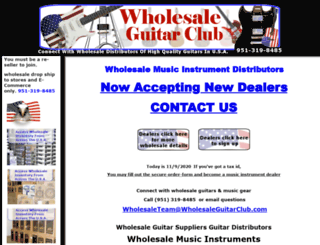 wholesaleguitarclub.com screenshot