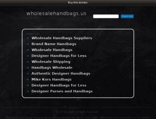 wholesalehandbags.us screenshot