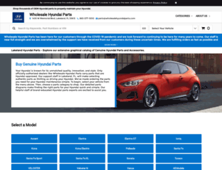 wholesalehyundaiparts.com screenshot