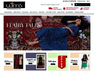 wholesalemarketsurat.com screenshot