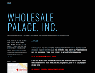 wholesalepalaceinc.com screenshot