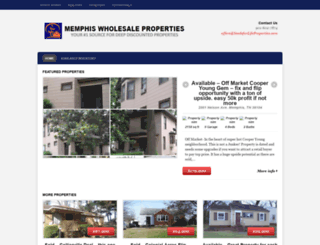 wholesalepropertiesinmemphis.com screenshot